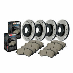 Stoptech For Audi A6 2014-2018 Front And Rear Brake Rotor And Brake Pads Sold As Kit