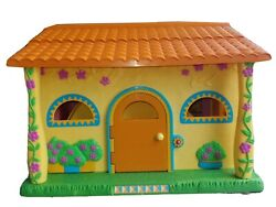 Dora The Explorer Pop Up Talking House Dollhouse W/ Figures And Sofa Plays Sound