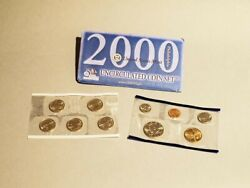 2000 P And D Uncirculated Us Mint Coin Set 20 Coins Including Sacagawea Dollar