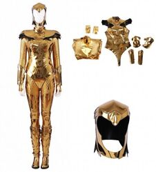 Wonder Woman 1984 Gold Armour Cosplay Leather Pvc Xl Like New Never Worn