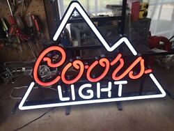Coors Light Beer Led Lighted Sign New In Box