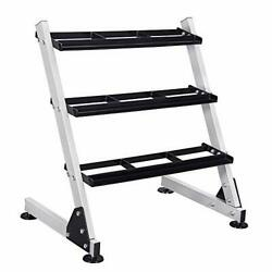 Fisup 3 Tier Dumbbell Rack Stand Only For Home Gym Weights Storage Rack For