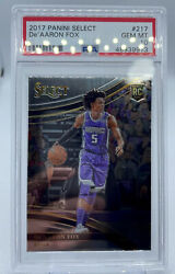 2017-18 Panini Select Courtside 217 Deand039aaron Fox Kings Rc Rookie Psa 10andnbsp