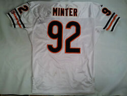 Vtg Rare Made In Usa Nike Chicago Bears 92 Minter Pro Cut Signed Jersey Size 52