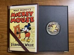 Mickey Mouse Coin Steamboat Willie 1 Troy Oz. .999 Fine Silver