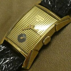 14k Gold Elgin 19 Mechanical Hand Winding 21 Jewels Menand039s Watch Working