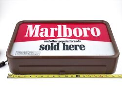 Vintage 1986 Marlboro Store Light Sign 19 X 12 X 5 Tested Working