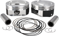 S And S Cycle Plus .010 Length High Compression Piston Kit 920-0115