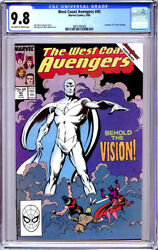 West Coast Avengers 45 Cgc 9.8 Ow/white Pages 1st White Vision 1989