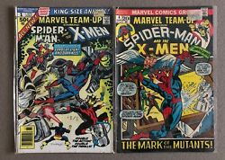 Marvel Team-up Spider-man And The X-men 1 And 4 Spiderman X-men