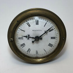 Antique Magneta Small Heavy Electric Clock Movement Made In France For Parts