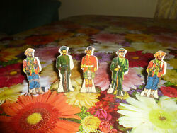 Marx Lot 5 Vintage Tin Litho Toy Soldiers Sikh 10 15 20
