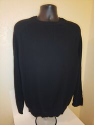 Brioni 100 Cashmere Black Sweatshirt Made In Italy Rare Nwt Size 56