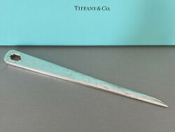 And Co. Sterling Silver Vintage 1999 Bamboo Letter Opener With Box And Pouch