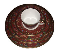 Christian Dior Tapisserie 5 Piece Place Setting Discontinued Stunning Pattern