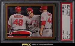 2012 Topps Gold Mike Trout Rookie Rc /2012 446 Psa 10 Gem Mint