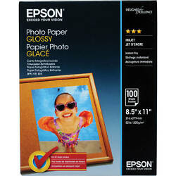 Epson Photo Paper Glossy 8.5 X 11 100 Sheets