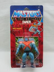 Motu,vintage,faker,hard Head,clear,masters Of The Universe,moc,sealed,he-man