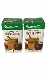 2 Boxes Of Martinelli's Organic Mulling Spices - 1.9 Oz - 20 Count Per Box