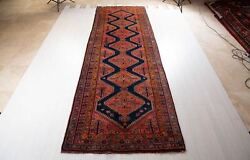 13and0398 X 4and0396 Hand-knotted Antique Collectible Tribal Runner Rug