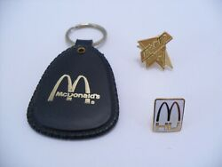 Vintage Mcdonalds Promotional Manager's Convention Keychain Tomorrow Pin Lot