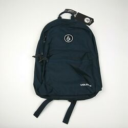 VOLCOM Backpack School Bag One Size Navy Blue NWT $25.00