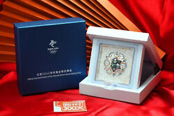 Beijing 2022 Winter Olympic Official 999 Sterling Silver Snowflake Emblem Badge