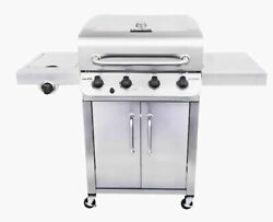 Char-broil Performance Stainless 4-burner Liquid Propane Gas Grill With 1 Side B