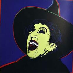 """Andy Warhol -""""the Witch""""- Diamond Dust-from Myths Suite-1981 -silkscreen Proof"""
