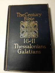 Vintage Hardback The Century Bible I And Ii Thessalonians And Galatians Oxford Print