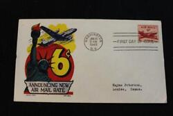 Historic Event Cover 1949 New Air Mail Postal Rate 6 Cent Stamp 6828