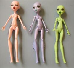 3 Nude Monster High Doll Create A Monster Cam Sea Girl Pink Vampire Green Witch