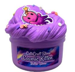 Butter Slime Cosmic Kitten Scented Charm Sprinkles Inflating Soft 4 6 8 12 Oz