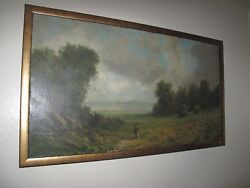 William W. Armstrong Sacramento Valley Oil On Canvas 20 X 36