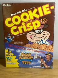 Ralston Discontinued Full Cereal Cookie Crisp From 1989 W/premium Inside