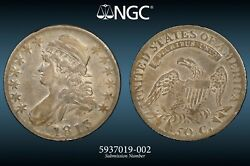1813 O-109a R.5 Single Leaf Ngc Vf Details Capped Bust Half Dollar Almost Xf