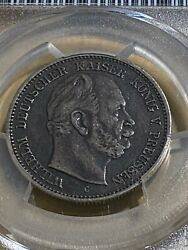 1876-c German States Prussia 2 Mark Graded Xf40 By Pcgs