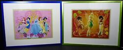 Framed Disney Puzzles Princess And Tinkerbell Disney Pictures Hanging Wall Decor