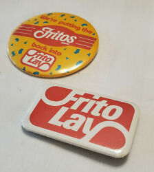 Frito Lay Vintage Collectorand039s Button Pin Pinback Lot Of 2