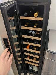 Cuisinart Wine Cellar 18 Bottle - Great Condition - Black With Silver/glass Door