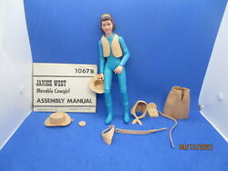 Complete Johnny 1974 Marx Best Of The West Janice Movable Cowgirl Accessories