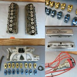 Lot Of Engine Parts Roush Yates Heads Valve Covers Distributor Intake 351w 3490