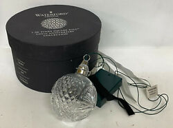 2008 Waterford Times Square Ball Crystal Glass Lighted Christmas Ornament W/box