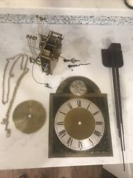 Vintage Tempus Fugit Grandfather Clock Face And Mechanism Misc Parts Steampunk
