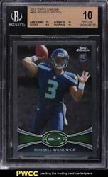 2012 Topps Chrome Russell Wilson Rookie Rc 40a Bgs 10 Pristine