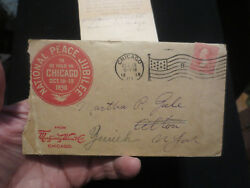 National Peace Jubilee Patriotic Postal Cover-chicago 1898 Montgomery Ward Adv.