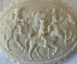 Three Kings In Oval Springerle Cookie Mold Stamp Press Christmas New Opt Cutter