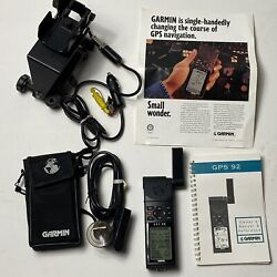 Garmin Gps 92 Hand Held Aviation Gps With Manual Pouch Charger Works Pristine