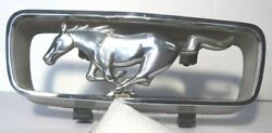 Original 1965 Mustang Pony And Corral Grill Ornament Great Condition Heavy Chrome