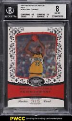 2007 Topps Echelon Red Kevin Durant Rookie Rc /25 74 Bgs 8 Nm-mt
